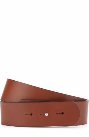Кожаный ремень Erika Cavallini. Цвет: коричневый