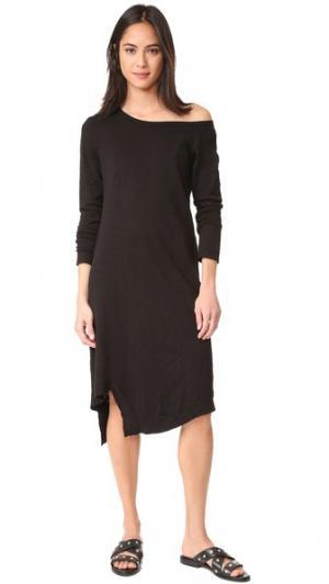 Платье с открытым плечом Wilt. Цвет: базовый черный