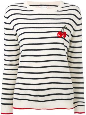 Кашемировый свитер с вишнями Chinti & Parker. Цвет: телесный