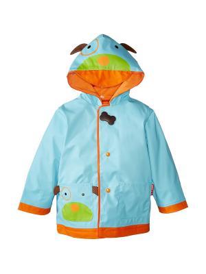 Детский плащ Собака SkipHop. Цвет: голубой, оранжевый