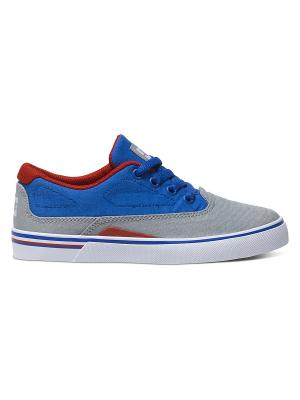 Кеды DC Shoes. Цвет: синий, серый, красный, белый