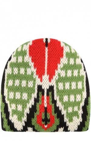Вязаная шапка с узором Tak.Ori. Цвет: красный