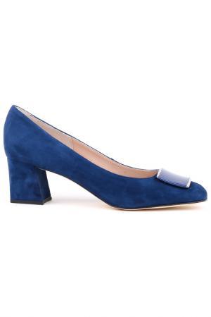 Туфли Zenux. Цвет: темно-синий