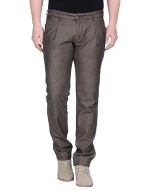 Повседневные брюки ONE SEVEN TWO. Цвет: темно-коричневый