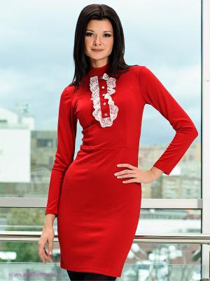 Платье MONDIGO. Цвет: бордовый