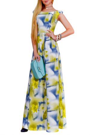 Платье Patricia B.. Цвет: голубой, зеленый, молочный
