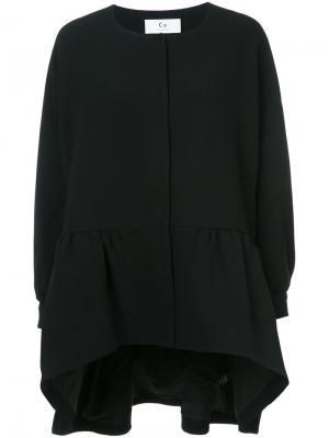Пальто с приспущенным подолом Co. Цвет: чёрный