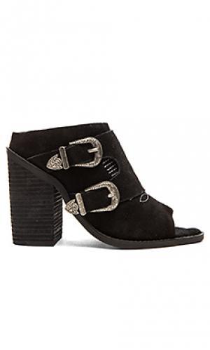 Босоножки на каблуке black mule Nightwalker. Цвет: черный