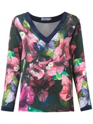 Шелковая блузка Isolda. Цвет: синий