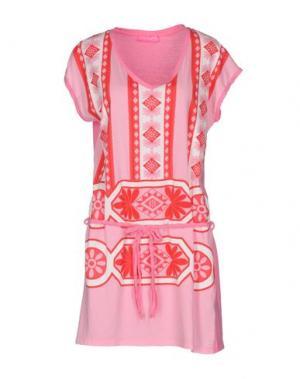 Короткое платье CUSTO GROWING. Цвет: розовый