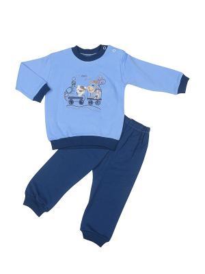 Пижама M-BABY. Цвет: светло-голубой, синий
