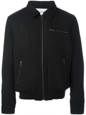 Куртка-бомбер на молнии Les Benjamins. Цвет: чёрный