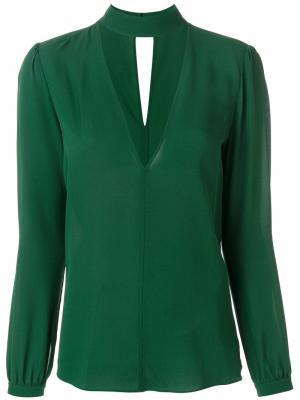 Блузка с V-образным вырезом и чокером A.L.C.. Цвет: зелёный