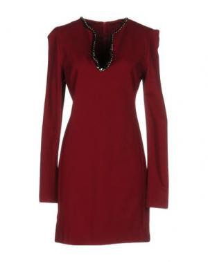 Короткое платье NORMALUISA. Цвет: кирпично-красный