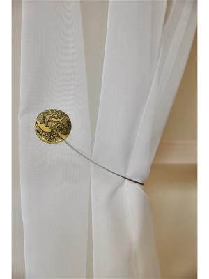 Магнитная клипса с тросом (30 см) Волны золото матовое IZKOMODA. Цвет: золотистый