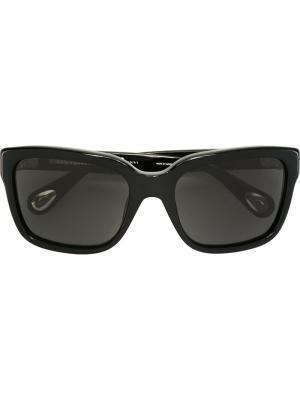 Солнцезащитные очки в квадратной оправе Linda Farrow. Цвет: чёрный