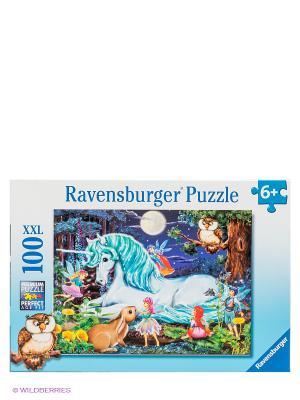 Пазл Зачарованный лес XXL, 100 деталей Ravensburger. Цвет: голубой