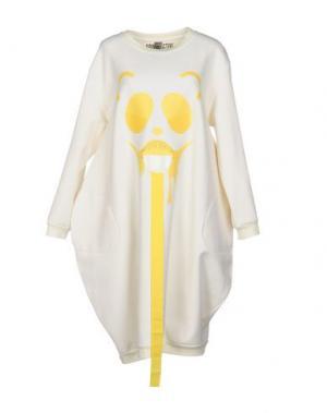 Платье до колена GRINKO. Цвет: белый