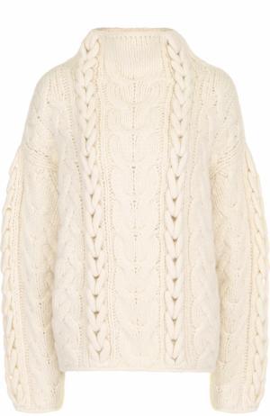 Шерстяной свитер фактурной вязки Iro. Цвет: светло-бежевый