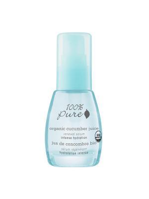 Коллекция Огуречный сок: Органическая сыворотка для лица. 100% Pure. Цвет: прозрачный