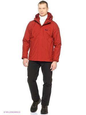 Куртка ICELAND JACKET MEN Jack Wolfskin. Цвет: бордовый