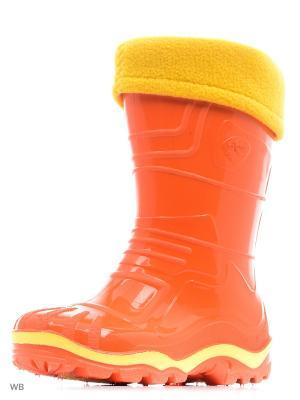 Резиновые сапоги Дюна. Цвет: оранжевый, горчичный, желтый