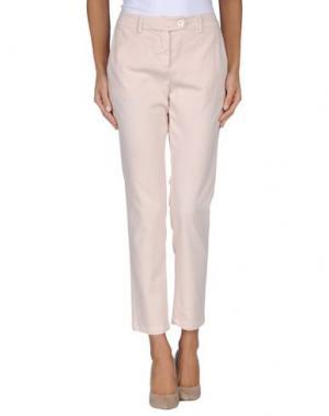 Повседневные брюки DEVOTION. Цвет: светло-розовый
