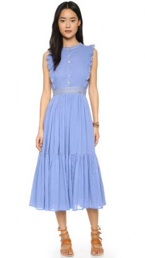 Платье в деревенском стиле Carolina K. Цвет: синий