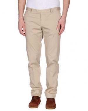 Повседневные брюки GENTRYPORTOFINO. Цвет: хаки