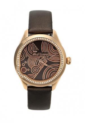Часы Galliano. Цвет: коричневый