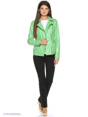 Кожаная куртка MONDIAL. Цвет: зеленый