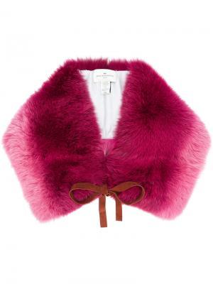 Широкая накидка с эффектом градиент Anya Hindmarch. Цвет: розовый и фиолетовый