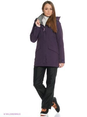 Куртка Bergans. Цвет: сливовый, серый