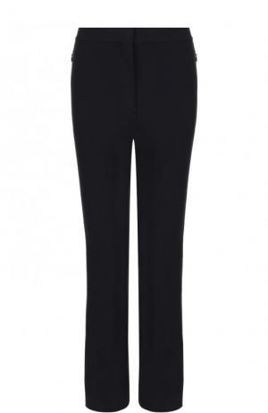 Укороченные расклешенные брюки из хлопка Theory. Цвет: темно-синий