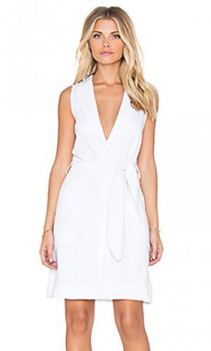 Платье с жилеткой calm The Allflower Creative. Цвет: белый