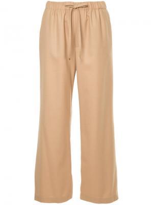 Укороченные брюки на шнурке Astraet. Цвет: телесный