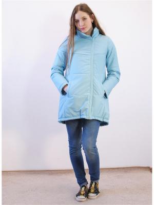 Куртка Адель. Цвет: голубой
