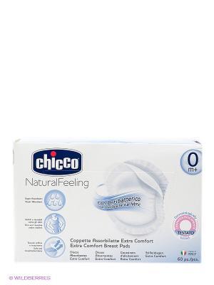 Прокладки для груди CHICCO. Цвет: белый