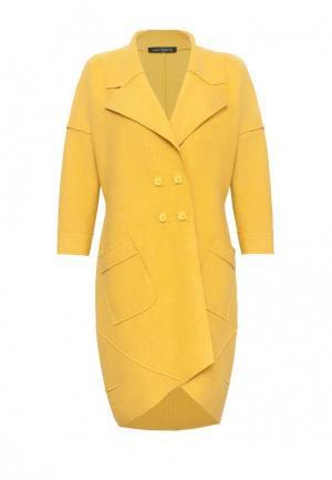 Пальто Lucky Move. Цвет: желтый