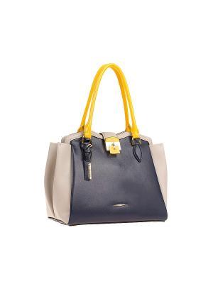 Сумка Eleganzza. Цвет: синий, бежевый, желтый