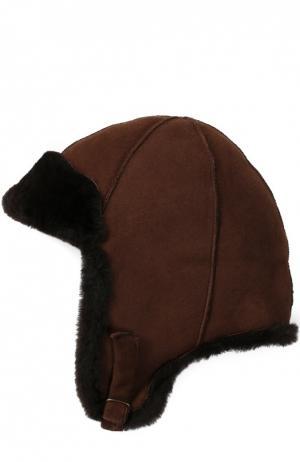 Шапка из овчины Petit Nord. Цвет: коричневый