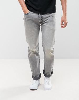 Levis Выбеленные прямые джинсы 501 Original. Цвет: серый