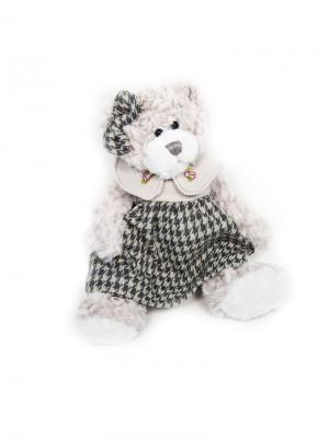 Мягкая Игрушка Мишка Белла в Платье, 20 см MAXITOYS. Цвет: серый