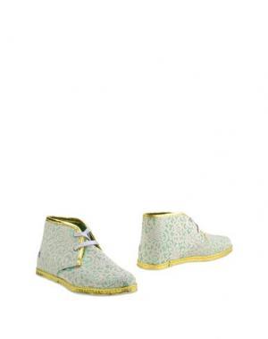 Полусапоги и высокие ботинки LE CROWN. Цвет: светло-зеленый