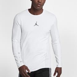 Мужская баскетбольная футболка с длинным рукавом Jordan Flight Nike. Цвет: белый