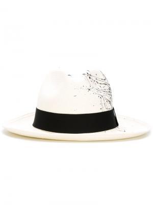 Шляпа-панама Sensi Studio. Цвет: белый
