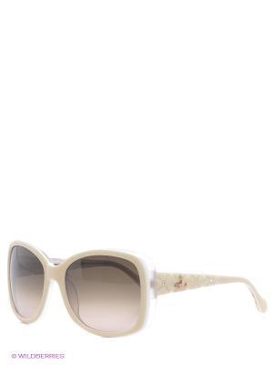 Очки солнцезащитные Vivienne Westwood. Цвет: темно-серый, молочный