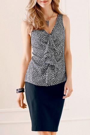 Блузка MARCA-M. Цвет: мультицвет