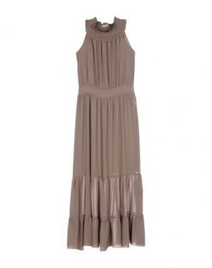Длинное платье ANGELA MELE MILANO. Цвет: хаки