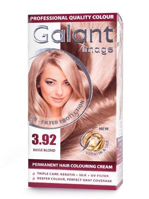 Cтойкая крем-краска для волос GALANT 3.92 бежевый блондин, 125 мл., (Болгария) Image. Цвет: зеленый